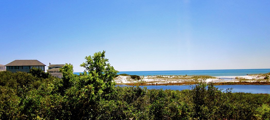 a view of the coast in Dune Allen Beach, FL