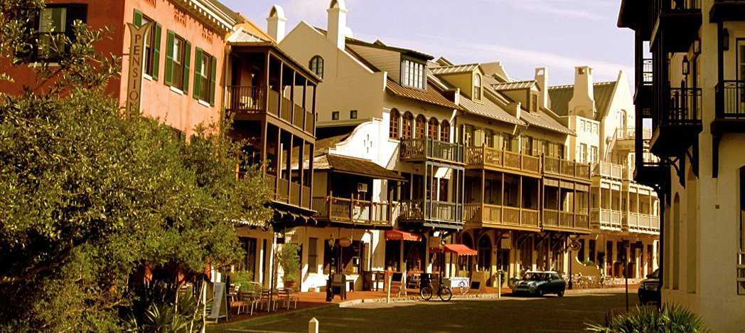 the old world charm of Rosemary Beach, Florida