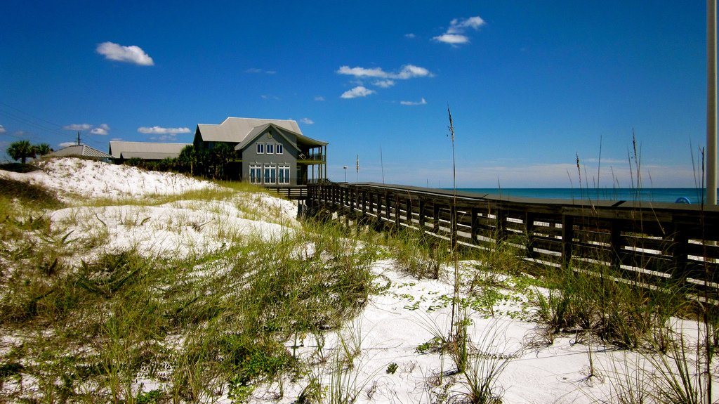 a large home and boardwalk in Dune Allen, Florida